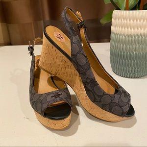 Coach NWOT Ferry Signature Slingback Sandals